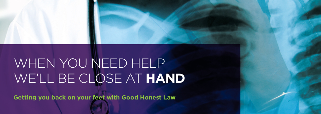 Getting you back on your feet with good honest law
